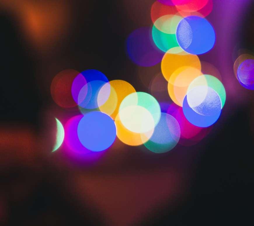 Colorful circular lights