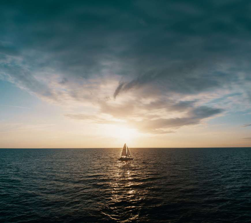 A sailboat on the water